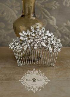 Bitter Sweet Bridal Collection. Hair comb. #bridal #jewellery #wedding #elegant #floral #vintage #crystal