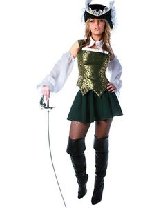 Adult Ms. Charming Musketeer Costume - Womens Costumes - Sale ...