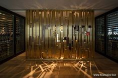 Luxury Interior, Interior Architecture, Wood Partition, Feature Wall Design, Showroom Design, Wall Cladding, Wall Treatments, Retail Design, Interiores Design