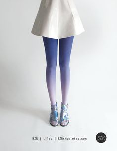 BZR Ombré tights in Lilac by BZRshop on Etsy, $40.00