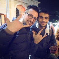 And I Mudy  #afterwork #colleagues @antonysax #Mudy #friend #rocknroll #PiazzaXXVAprile #milan #city #beers #i_lovephoto #finishwork #socialnetwork #pinterest #swarm #tumblr #twitter #instagram #likes #kiss #hashtag #good #followme #mypageispublic #follow4follow