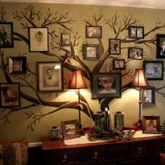Family tree collage.  Great idea!
