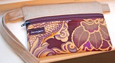This is a perfect design for a wet bag travel case for cloth wipes.  Just use PUL for interior.