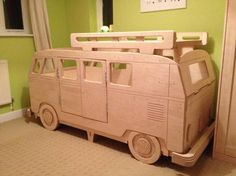Wooden VW Bus bed