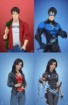 No, we're a family. Dc Comics Superheroes, Arte Dc Comics, Dc Comics Characters, Young Justice League, Dc Comics Action Figures, O Pokemon, Mundo Comic, Teen Titans Go, Batman And Superman