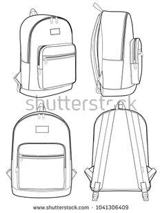 961d4e7a383e Backpack vector illustration flat sketches Study Design