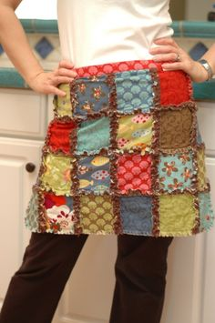 Cute idea, I don't think I would make it so A line. I like a little ruffle in my aprons.