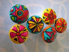 handpainted knobs from ARToutOFherMIND on Etsy... already counting how many I need for my cabinets!