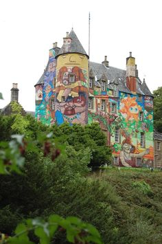 Kelburn Castle is one of the oldest in Scotland… and the only one to have been given a makeover by four Brazillian grafitti artists.