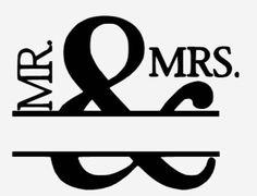 MR MRS Wedding Design silhouette cameo vinyl or print design Cricut Air, Cricut Vinyl, Silhouette Cameo Projects, Silhouette Design, Embroidery Designs, Etsy Embroidery, Embroidery Monogram, Wedding Embroidery, Cricut Wedding