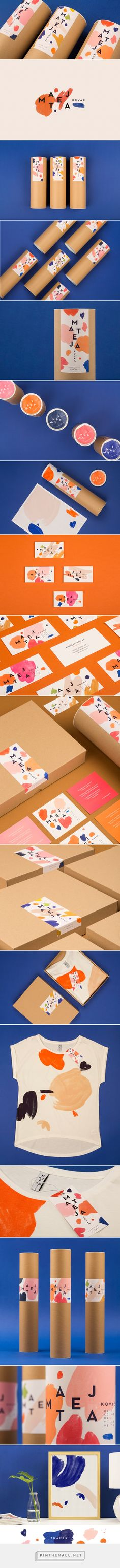 MATEJA KOVAČ / Visual identity on Behance Love the colors and bold pattern use in the brand identity Brand Identity Design, Graphic Design Branding, Corporate Design, Branding Agency, Business Branding, Logo Branding, Packaging Inspiration, Inspiration Logo Design, Vintage Logo