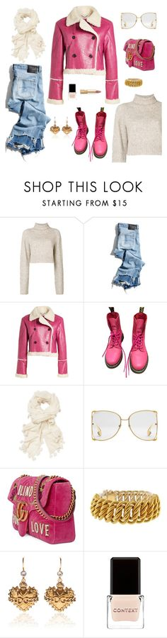 """Pink Dream"" by sproetje ❤ liked on Polyvore featuring Diesel, R13, Kenzo, Dr. Martens, White + Warren, Gucci, Buccellati, Dolce&Gabbana, Context and Pink"