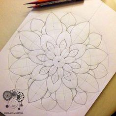 Draw Pattern - mandala by Gromova_Ksenya. Mandala Mural, Mandala Art Lesson, Mandala Dots, Mandala Pattern, Mandala Doodle, Watercolor Mandala, Mandala Painting, Mandala Drawing, Tattoo Watercolor