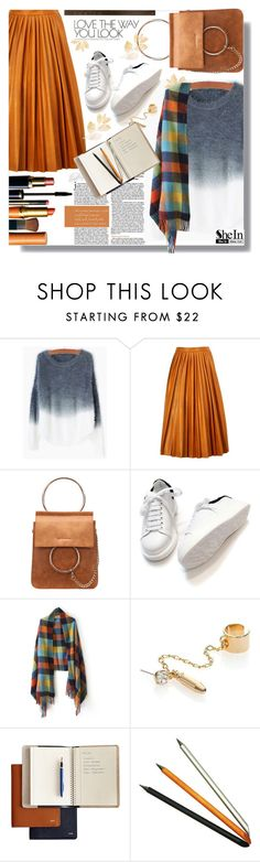 """""""SHEIN:Grey Mohair Sweater"""" by prigaut ❤ liked on Polyvore featuring By Malene Birger, DANNIJO, Jac Zagoory Designs, shein and GreyMohairSweater"""