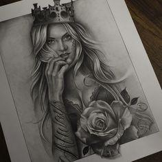 Tattoo Chicana, Chicano Tattoos Sleeve, Leg Sleeve Tattoo, Sugar Skull Girl Tattoo, Girl Face Tattoo, Girl Face Drawing, Badass Tattoos, Sexy Tattoos, Body Art Tattoos