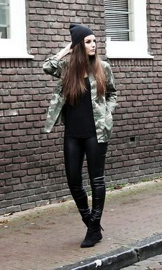 Get this look: http://lb.nu/look/4254025  More looks by Mirte Van der weij: http://lb.nu/fashionmind  Items in this look:  Comegetfashion Studded Army Blouse, Leather Pants, Ankle Boots