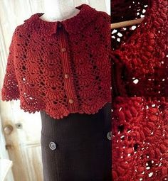 CROCHET CAPELET WITH GRAPHIC