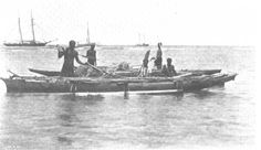 The Samoa Islands by Dr Augustin Kramer 1901 Canoes with fish spears