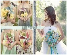 Pinwheels alternative bouquet wedding