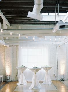 Wedding lighting is everything. We offer natural light, cafe lighting, and uplighting to fit all your desires. | Photo: Taylor Dane Photography | Florals: Forever Wild Floral Co | BridgeStreet Gallery & Loft | Birmingham Wedding Venue