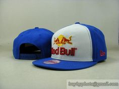 Red Bull Snapback Hats Adjustable Cap White/Blue (New Era) 012