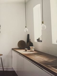 found by hedviggen ⚓️ on pinterest | kitchen | interior design | interior styling | walls | floor | modern | minimal | clean