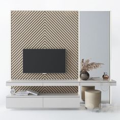 models: TV Wall - Dressing table and TV Living Room Wall Units, Living Room Tv Unit Designs, Living Room Modern, Ecole Design, Bedroom Tv Wall, Modern Tv Wall Units, Tv Wall Design, Suites, Apartment Design