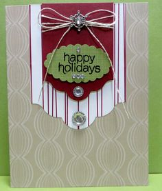 Stampin' Up Mistletoe & Holly November 2015 Paper Pumpkin Kit Alternate Card created by Lynn Gauthier. Go to http://lynnslocker.blogspot.com/2015/11/stampin-up-mistletoe-holly-paper.html for more details on this project.