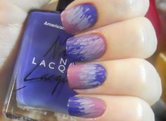 Holy Manicures: Purple Tie-Dye Nails.