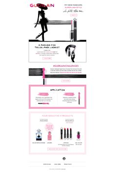 Discover the new mascara La Petite Robe Noire #GUERLAIN #emails #beauty #digital  #marketing #newsletter