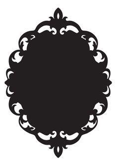 Baroque Frame Silhouette