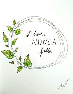 Lettering - Dios NUNCA falla #consejoscristianosjovenes