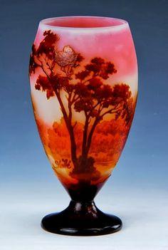 Émile Gallé,Pale Rose and Burnt Orange Vase More At FOSTERGINGER @ Pinterest