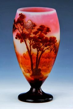 Émile Gallé,Pale Rose and Burnt Orange Vase More At FOSTERGINGER @ Pinterest
