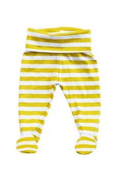 basic footed pant in mustard stripes | candy kirby designs
