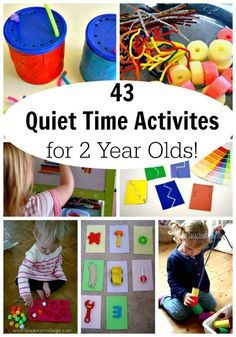 Quiet Time Activities for 2 Year olds! These quiet activities are perfect for young toddlers, as young as 18 months! No mess and very little set up too. You could do them right now!