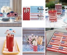 lantern decor for fourth of july | 4th of July Paper Lollies decorations