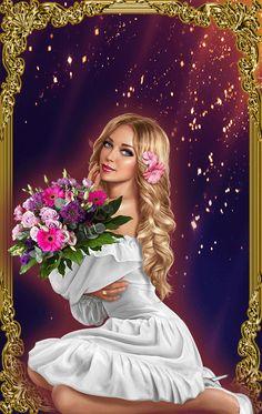 Beautiful Love Pictures, Beautiful Gif, Cute Girl Wallpaper, Cute Disney Wallpaper, Cartoon Girl Images, Cartoon Art, Gif Rose, Gif Bonito, Beau Gif