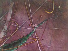 Titulo: Looking  for the climb.  Medidas:  40 x 30cm.  Técnica:  acrílico y lápiz graso s/ mdf panel.  Cronología: 2015