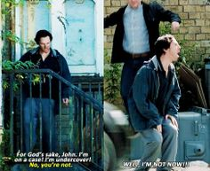 """That part was so funny. Sherlock you're adorable. <-- Apparently they filmed the """"Well, not now!"""" scene several times and then picked the one that made everyone laugh the hardest. Please put the others on the DVD extras! Sherlock Bbc, Sherlock Fandom, Funny Sherlock, Benedict Cumberbatch, Fangirl, Vatican Cameos, Mrs Hudson, Bae, Tv Quotes"""