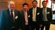 Kheng Ly with Heads of Bank of China in Canada