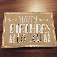 hand lettering card drawing lettering we do so real post is much more fun ver . Birthday Doodle, Birthday Card Drawing, Handmade Birthday Cards, Happy Birthday Cards, Happy Birthday Hand Lettering, Cumpleaños Diy, Diy Letters, Handmade Journals, Watercolor Cards