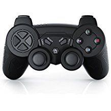 CSL - Manette de jeu pour PlayStation 3 | sans fil / wireless | Dual Vibration compris | Manette Joypad | Plug-and-Play | noir