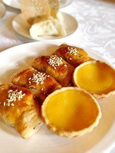 Jade fullerton egg tart and BBQ pork pastry