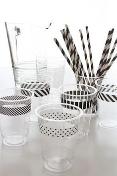 SUCH a great idea for parties! Washi Tape Cups