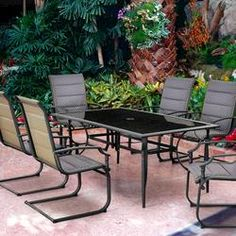 Backyard Creations 7-Piece Yukon Dining Collection at ...