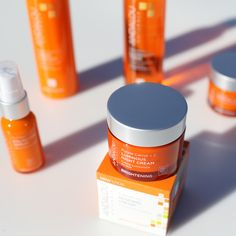 Our Probiotic + C Renewal cream blends vitamin C and skin-friendly probiotic microflora for a lighter, tighter, brighter looking appearance.  #AndalouNaturals #Brightening #FaceCream #crueltyfree #Beauty