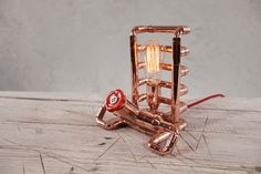 TENDO Copper Table Lamp by Zapalgo on Etsy, $362.00
