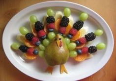 Turkey Fruit Tray for Easter