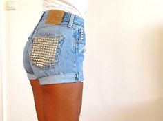 Studded shorts... Turn this into DIY project!
